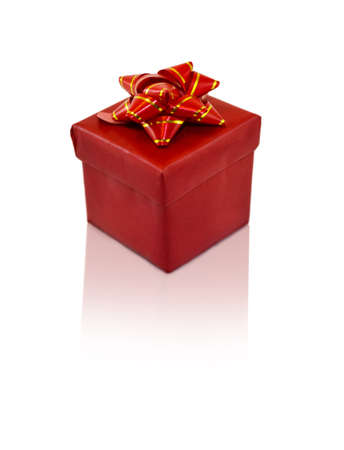 Christmas Gift, red box with decoration bow