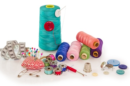 colecci�n de herramientas de costura