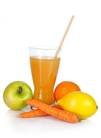 Healthy juice of mixed fruits Stock Photo - 17990519