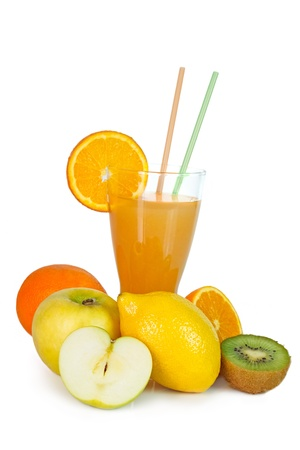 Fresh fruits, vegetables and juice Stock Photo - 17990531
