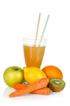 Fresh fruits and juice Stock Photo - 18390837
