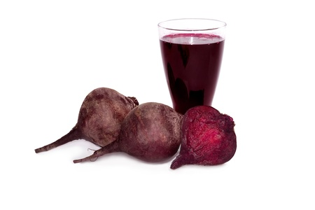 Fresh beets juice in glass Standard-Bild - 18390834