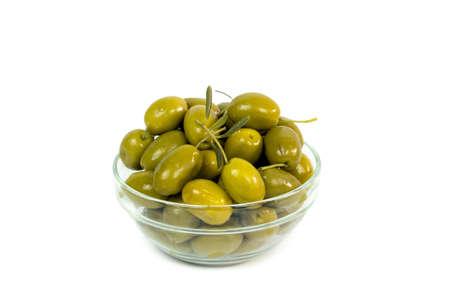 Bowl of olives isolated on white background Stock Photo - 18390827