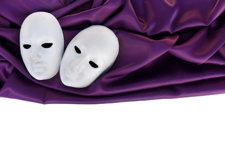 White mask over textile