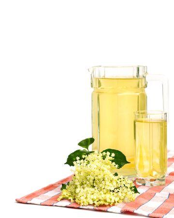 Homemade aromatic juice of elderflower