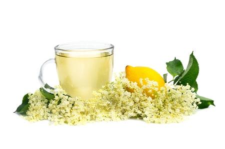 herbal medicine tea with elder flower