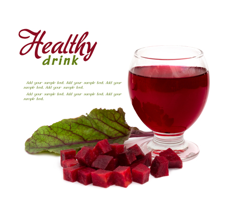 Healthy drink of beetroot, isolated over white background photo