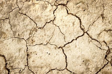 乾燥した土地、ひびの入った土地の表面の背景