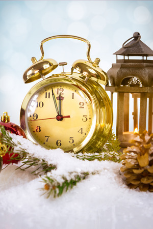 Nearly Twelve Oclock midnight, New Year concept