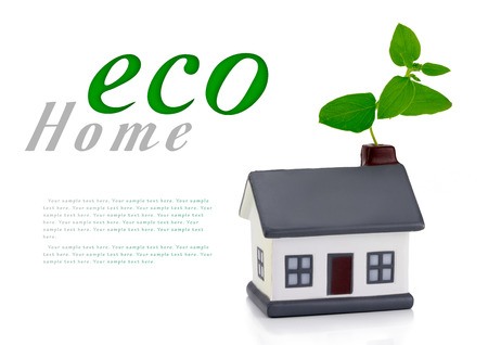 energy performance scale with a house,  energy efficiency in the home Stock Photo