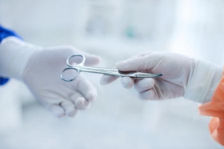 Scissors are ready sterilized for operation