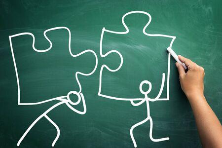 Sketch showing how team work together