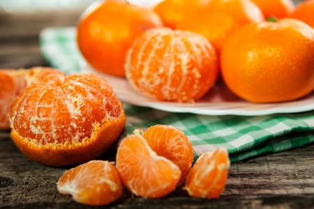 Healthy fresh organic clementines
