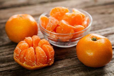 clementines: Sweet clementine and bowl with delicious clementines