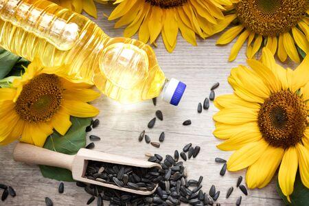 Bottle of refined sunflower oil (RSFO) refined sunflower cooking oil
