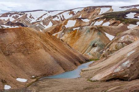 Beautiful view to mountains at Landmannalaugar, Iceland