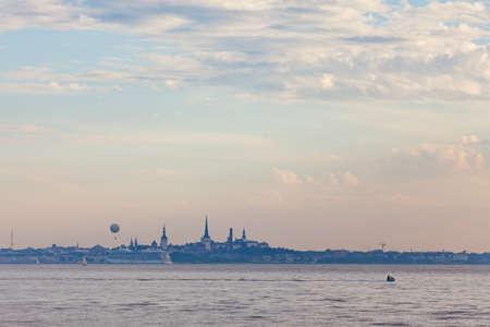 Tallinn Estonia. City center view before sunset
