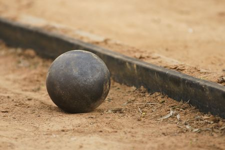 Shot put on athletic field. Stock Photo - 7405155