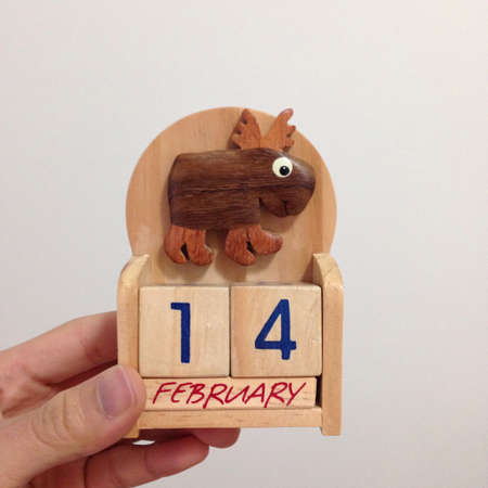 count down: Count down for Valentines day Stock Photo