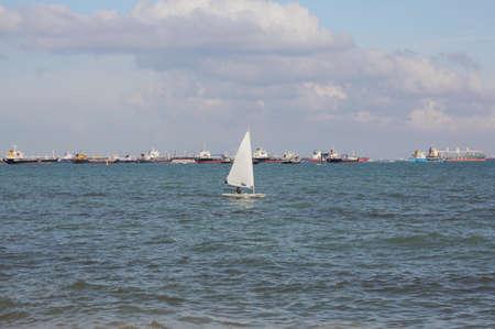 the east coast: sailing on the east coast singapore Stock Photo