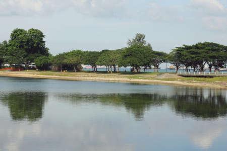 the east coast: quite lake at east coast singapore