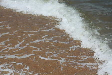 the east coast: wave of water at east coast Stock Photo