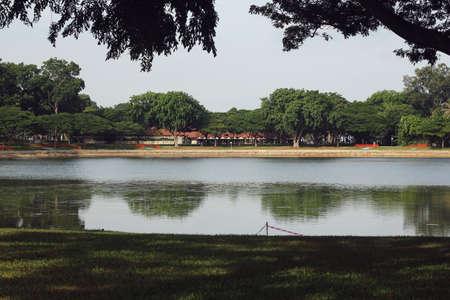 the east coast: serene lake near east coast singapore