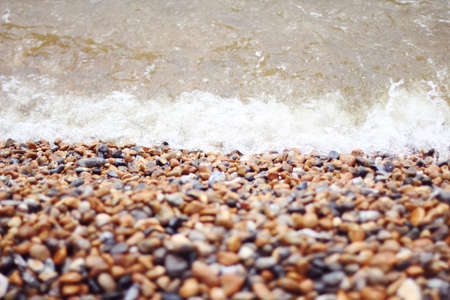pebble beach: pebble beach in brighton, uk Stock Photo