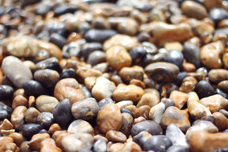 uk: rocks on Brighton, UK