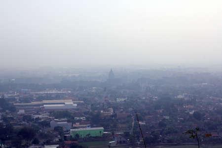 overlook: overlook of Prambanan Stock Photo
