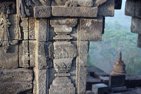 borobudur: temple of Borobudur Stock Photo