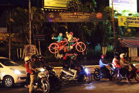 YOGYAKARTA: night street of yogyakarta Editorial