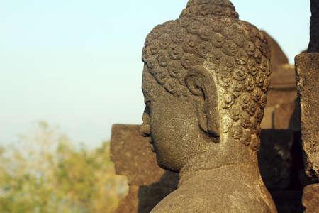 borobudur: statue of borobudur