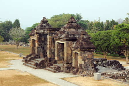 ruin: ancient ruin of ratu boko Stock Photo