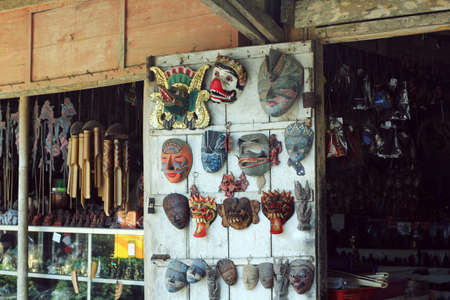 YOGYAKARTA: souvenir shop at yogyakarta street Stock Photo