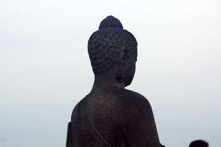 hinduismo: estatua de piedra de Buda Hinduismo Foto de archivo