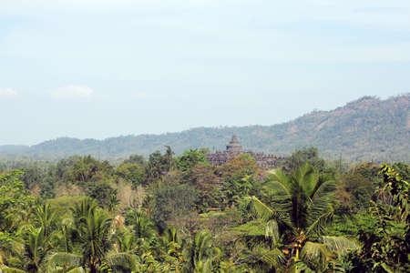 overlook: overlook of borobudur temple
