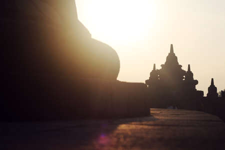 borobudur: sunrise at borobudur temple