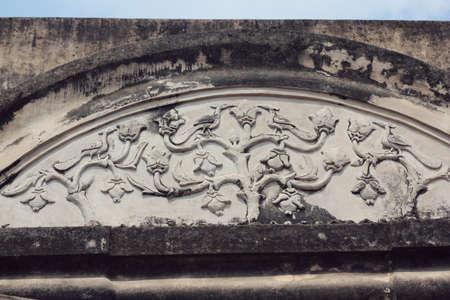 prambanan: flora craving on the wall of prambanan