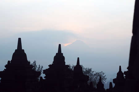 darn: morning of borobudur temple