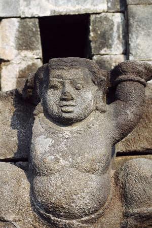 prambanan: statue at prambanan Stock Photo