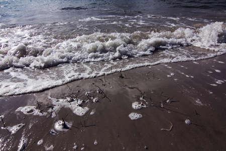 tasmania: wave at tasmania shore
