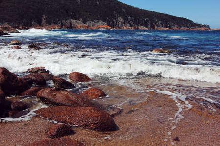 tasmania: sleepy bay at Freycinet National Park, tasmania