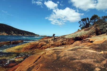 tasmania: sleepy bay at Tasmania, Australia Stock Photo