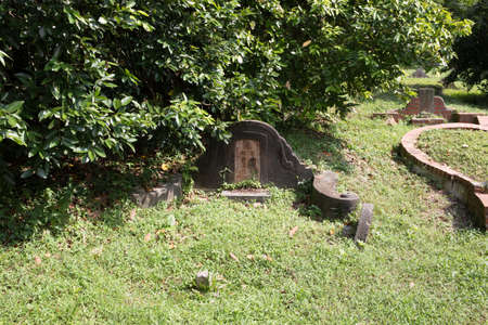 tombstone at Bukit Brown Cemetery Editorial