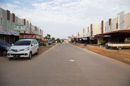 empty street view in Batam Island