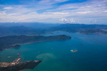 High angle view of an island