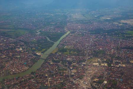 High angle view of houses
