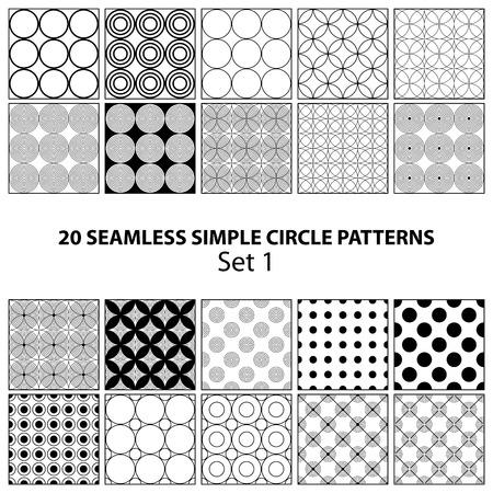 fondo transparente: Conjunto de c�rculo patrones negros simples sin fisuras en el fondo transparente