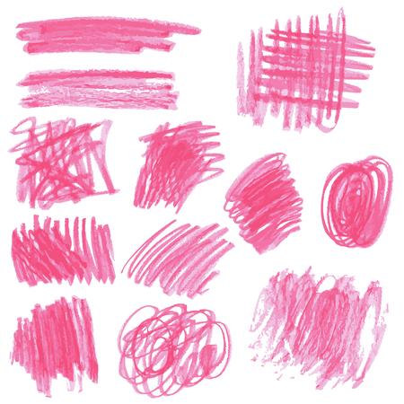 pencil: Bocetos de dibujo a mano, trazos de l�pices de colores rosa